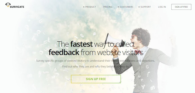 survicate online feedback widget tool for websites