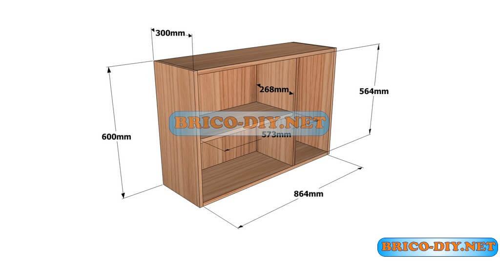 Planos detallados para hacer un mueble alto de cocina de for Planos para una cocina integral