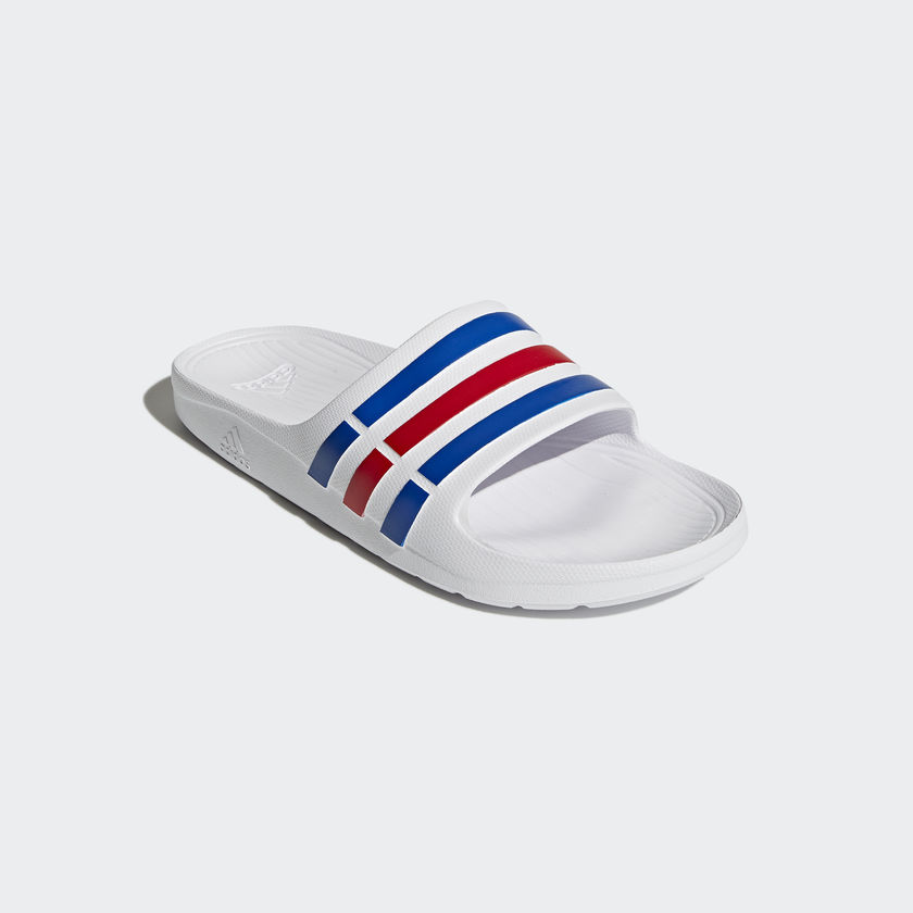 2b590bdfb ADIDAS DURAMO SLIDES WHITE BLUE RED - A4