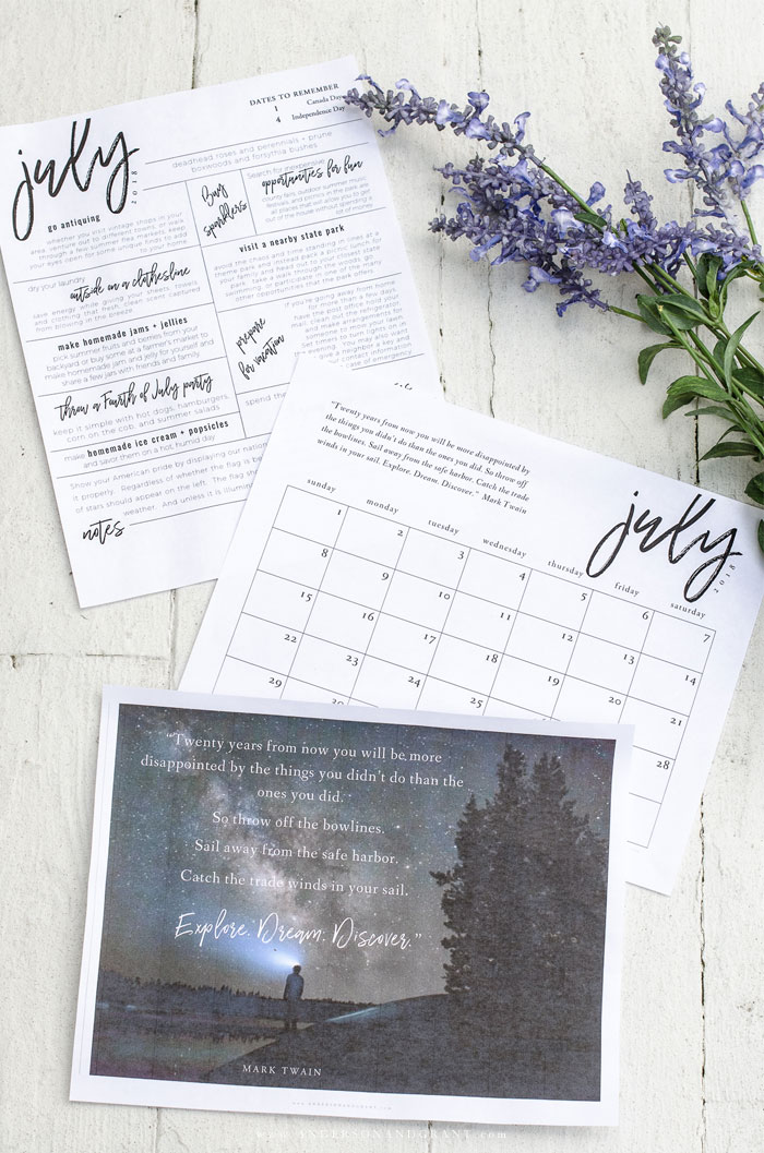 Stay organized + inspired in 2018 with these free printables - an inspirational quote, 2018 free printable calendar, + monthly to do list. #freeprintable #organization