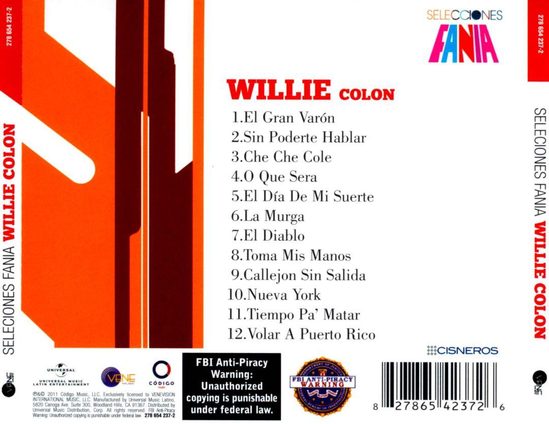 Salsa vida 2012 willie colon selecciones fania - Volar a puerto rico ...