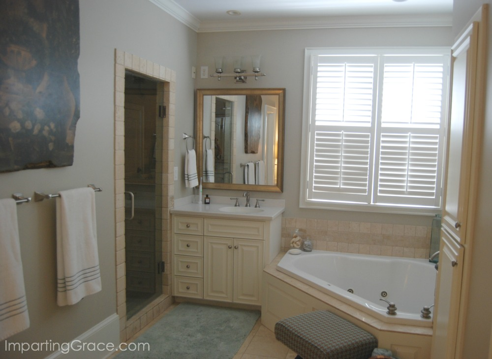 imparting grace master bathroom update