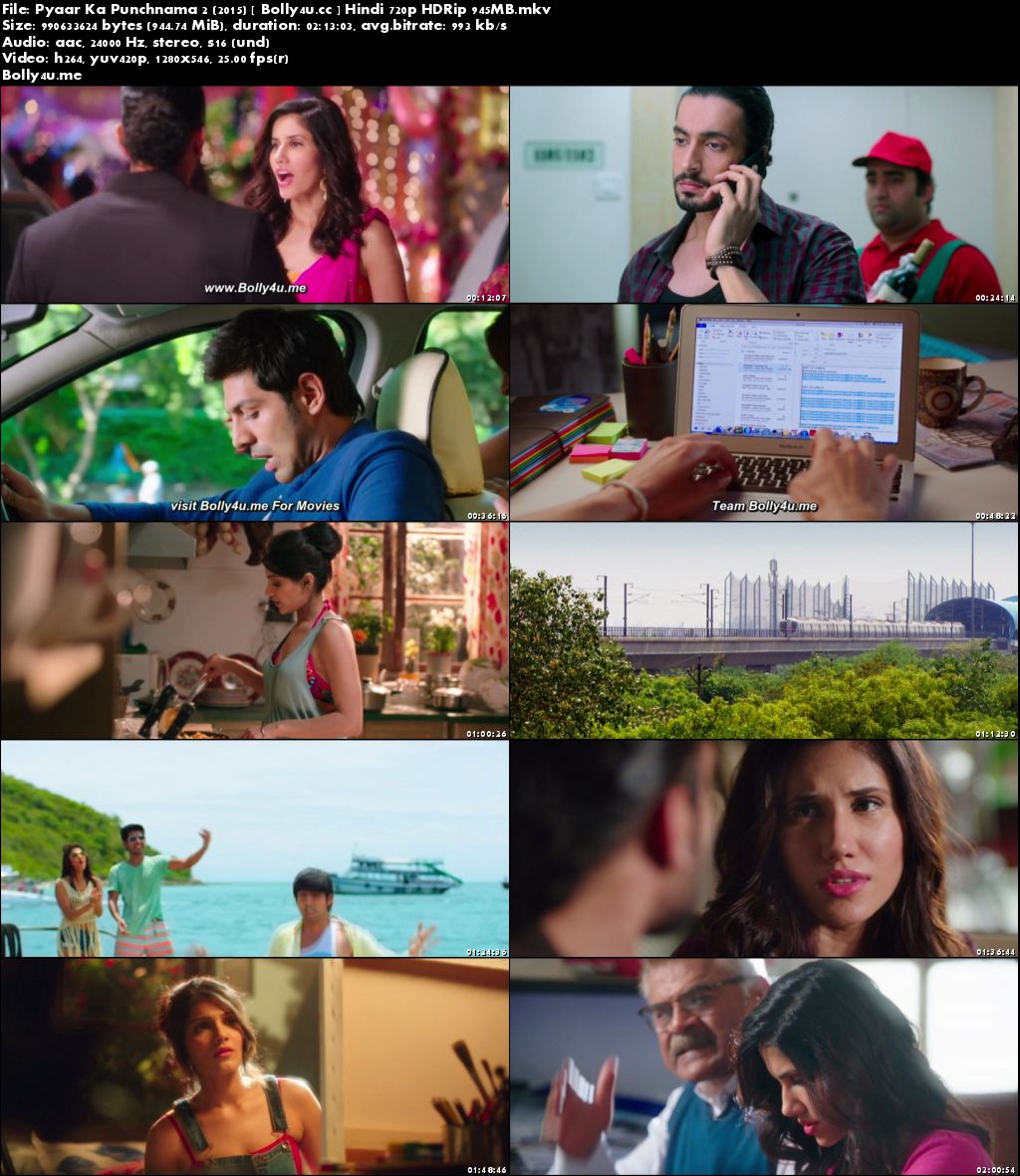 Pyaar Ka Punchnama 2 2015 HDRip 350Mb Hindi 480p Download