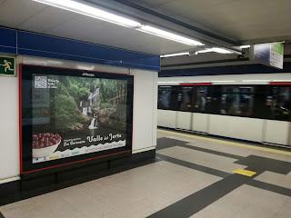 Promoción del Valle del Jerte en el Metro de Madrid