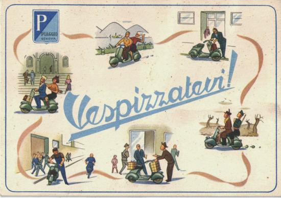 Vespa postcard 1951