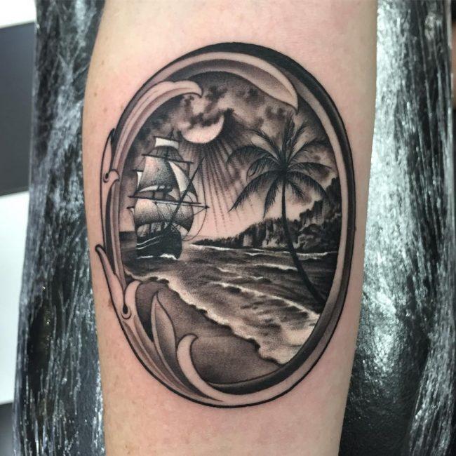 Tatuajes De Barcos Piratas Y Su Significado 30 Ideas Personales