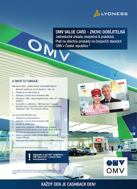 Lyoness Casback Card - dobíjecí OMV karta