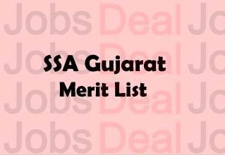 SSA Gujarat Merit List 2017