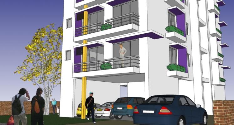 Apartment Building Design Ab 3001