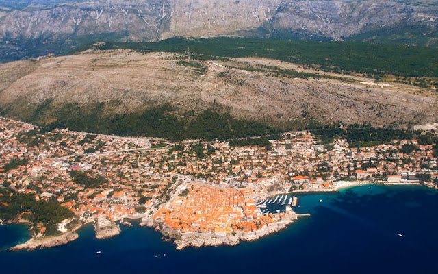 foto aérea de Korcula – Croácia