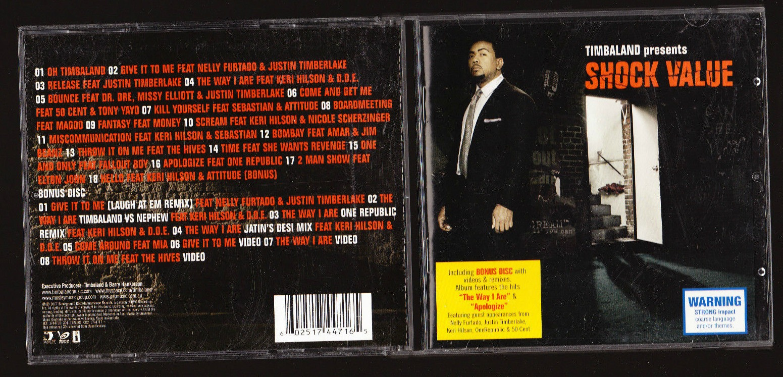 shock value timbaland games
