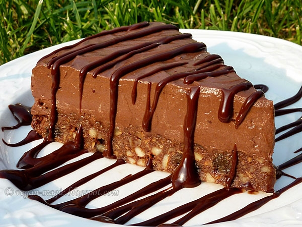 Tofu Chocolate Mousse Cake Recipe