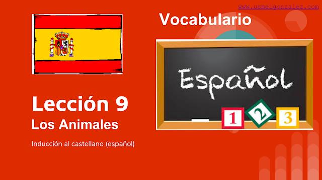 LOS ANIMALES - VOCABULARIO NIVEL A1