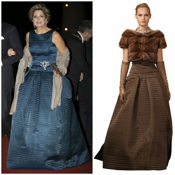 Dutch Queen Maxima wore Natan Sleeveless Long Dress. Style of Queen Maxima.