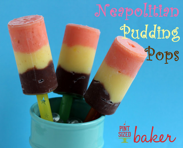 Strawberry, Vanilla, and Chocolate Pudding Popsicles are great for the summer heat! #summer #popsicles from www.pintsizedbaker.com