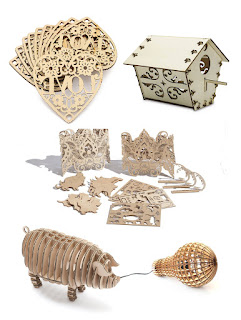 Laser wood cutting machine projects