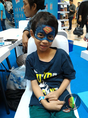 face painting captain america