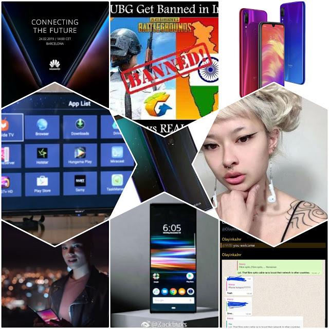 सैमी ने एंड्राइड बेस्ड स्मार्ट टीवी लांच किया, Samy Smart TV Based  on Android launched for Rs. 4999, सोनी एक्सपेरिया एक्स जेड-4 लीक, Sony Xperia XZ4 Leaks, वर्जिनिया महिला ने एप्पल एयरपोड से बनाया एअर्रिंग, Virginia Woman Turns Apple AirPods into Earrings, गूगल प्लस बंद होने वाला है, जल्द करले डाउनलोड अपने फोटोज और वीडियोस, Google+ is Going to be Shut Down, Download Your Photos and Videos, रेडमी नोट 7 प्रो हो सकता है फरवरी में लांच, Redmi Note 7 Pro Going to Launch in Feb, क्या होने वाला है पबजी भारत में बंद, PUBG is Going to Ban in India?, हुवाई 5G फोल्डेबल स्मार्ट फोन, Huawei 5G Foldable Smartphone, व्हाट्सऐप्प रिप्लाई बग, WhatsApp Reply Bug, ग्लोबल स्मार्टफोन मार्केट में आई गिरावट, Global Smartphone Market Declined in 2018, सैमसंग का फोल्डेबल स्मार्टफोन हुआ लीक, Samsung's Foldable Phone Leak