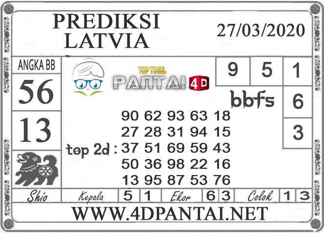 PREDIKSI TOGEL LATVIA PANTAI4D 27 MARET 2020