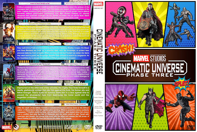 Marvel Studios Cinematic Universe - Phase Three DVD Cover