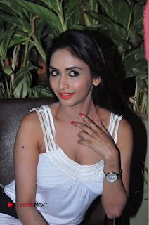 Actress Model Pooja Sri Stills in White Short Dress at F Club pre soft Launch  0079.JPG