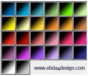 تحميل تدرجات متنوعة الألوان للفوتوشوب مجاناً, Photoshop Gradients free Download, Diverse Colors Photoshop Gradients free Download