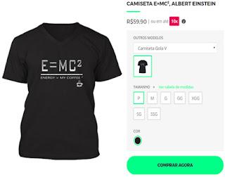 CAMISETA  E=MC²