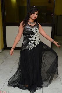 Shrisha Dasari in Sleeveless Short Black Dress At Follow Follow U Audio Launch 063.JPG