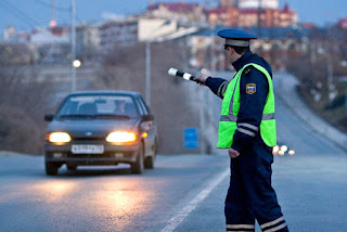 Automobilistes en Russie