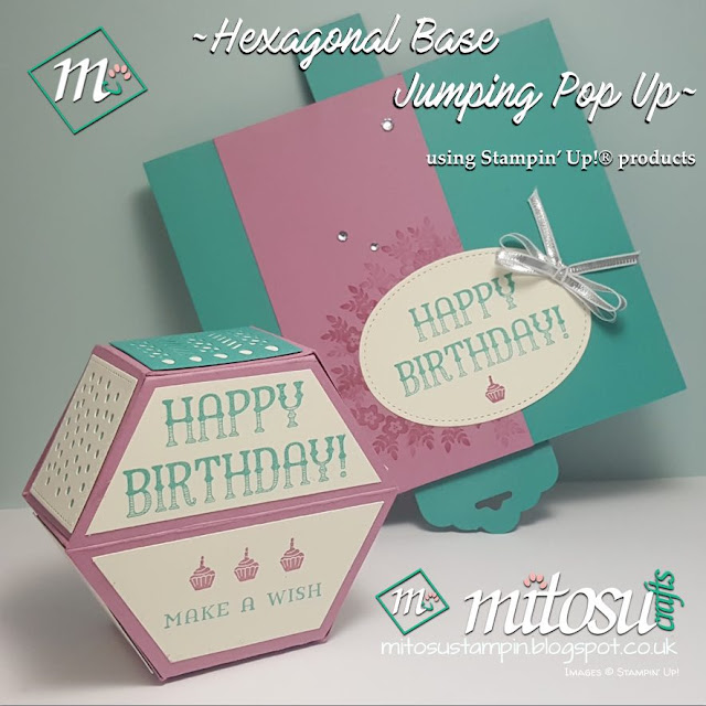 Window Box Hexagonal Pop Up Card Buy Stampin' Up! Products From Mitosu Crafts UK Online Shop