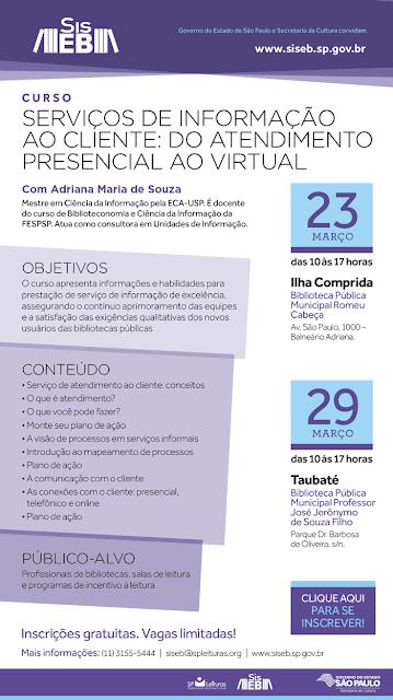 Estão abertas as inscrições para Curso - Serviços de Informação ao Cliente do Atendimento Presencial ao Virtual