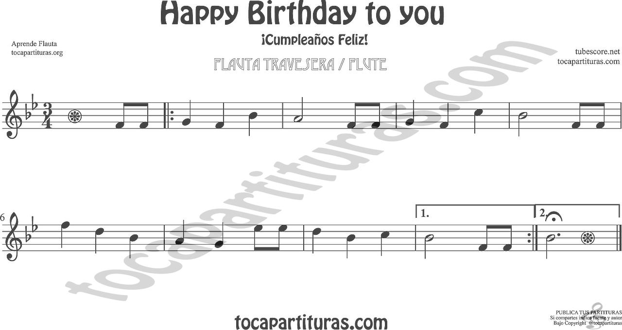 Diegosax Happy Birthday To You Cumpleanos Feliz Partitura De
