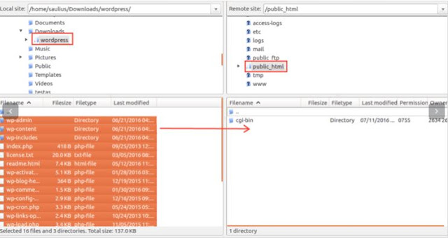 Setting akun ftp Upload Website Menggunakan Filezilla