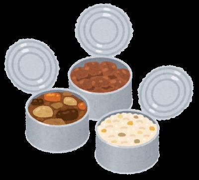 缶詰に入った食事のイラスト
