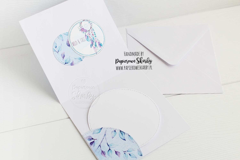 scrapbooking cardmaking kartka card urodziny birthdays dream catcher łapacz śnów i love digi Papierowe Skarby z okazji urodzin imieniny rękodzieło handmade akwarele watercolor