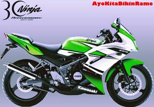 Gambar Kawasaki Ninja 150 RR SE Warna Hijau
