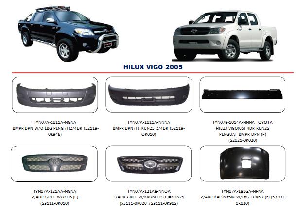 Bemper Hilux Vigo 2005