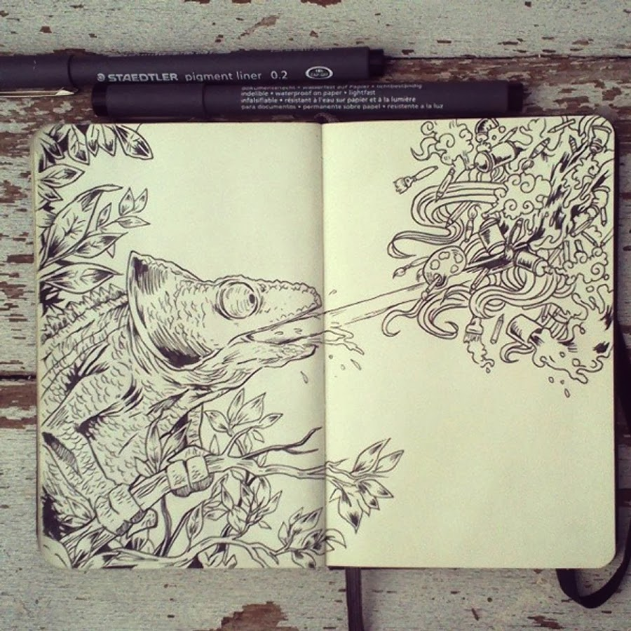 06-#18-Art-Attack-365-Days-of-Doodles-Gabriel-Picolo-www-designstack-co