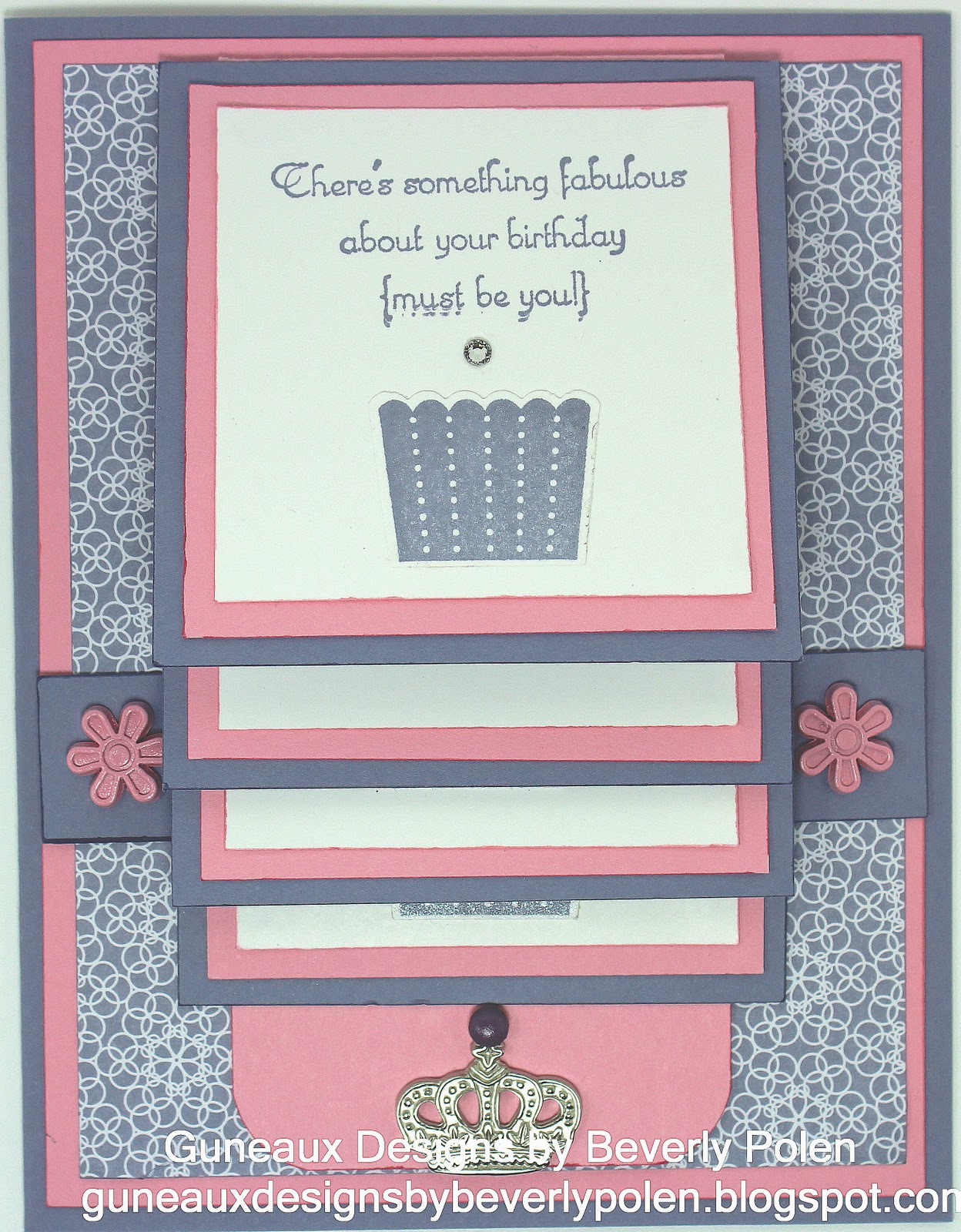 Guneaux designs by beverly polen how to make a waterfall for Waterfall design in scrapbook