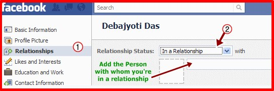how to change relationship status on facebook mobile app