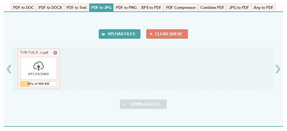 Cara mengubah PDF ke gambar melalui situs PDF to Image