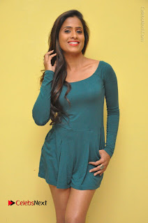 Telugu Actress Prasanthi Stills in Green Short Dress at Swachh Hyderabad Cricket Press Meet  0002.JPG