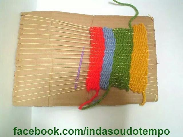 ... Das aulas de Têxtil em trabalhos manuais