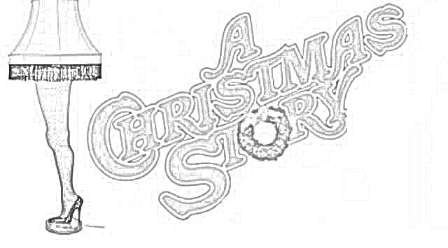 Coloring Pages A Christmas Story