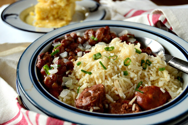 Red Beans, Rice, Cornbread