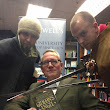 The Solaris Editors' Blog: VIDEO: the Roundheads help us launch Gideon's Angel at Blackwell's in London lastnight
