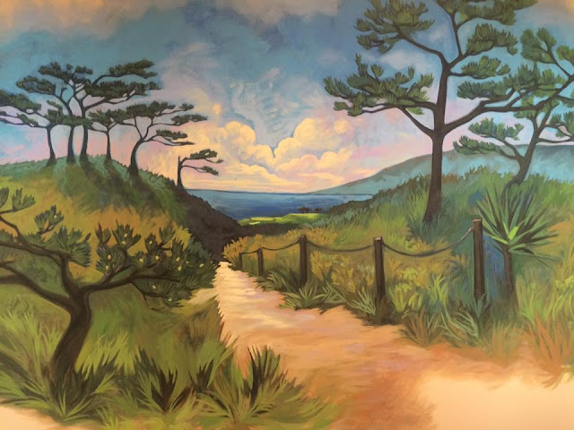 Torrey Pines, Torrey Pines art, Torrey Pines painting, Torrey Pines mural, Portland Muralist