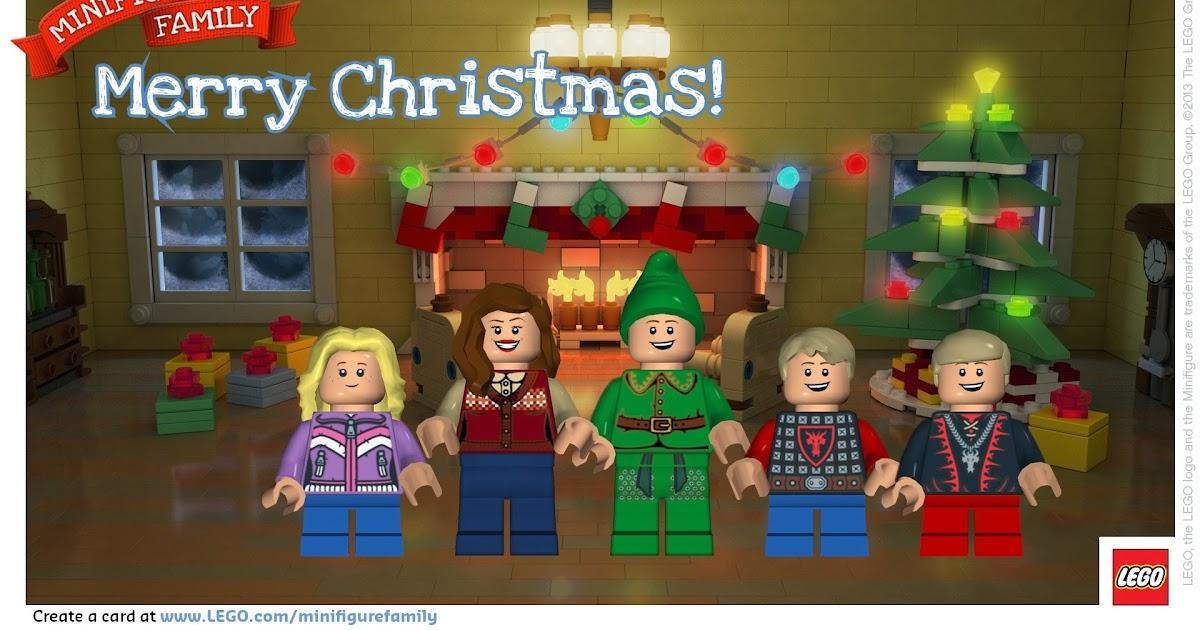 Doodlecraft: LEGO Minifigure Holiday Card!