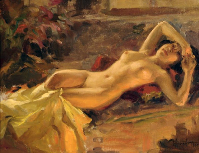 Fernando Amorsolo - Nude Girl 1960