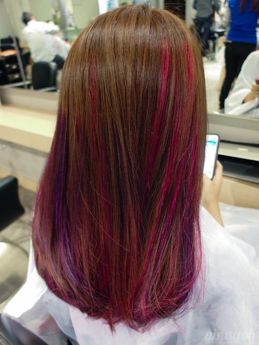 Salon Vim Lovin My Pink Amp Purple Highlights Yina Goes
